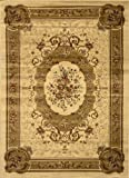 Home Dynamix Royalty 8078-100 Polypropylene 5-Feet 2-Inch by 7-Feet 2-Inch Area Rug, Ivory
