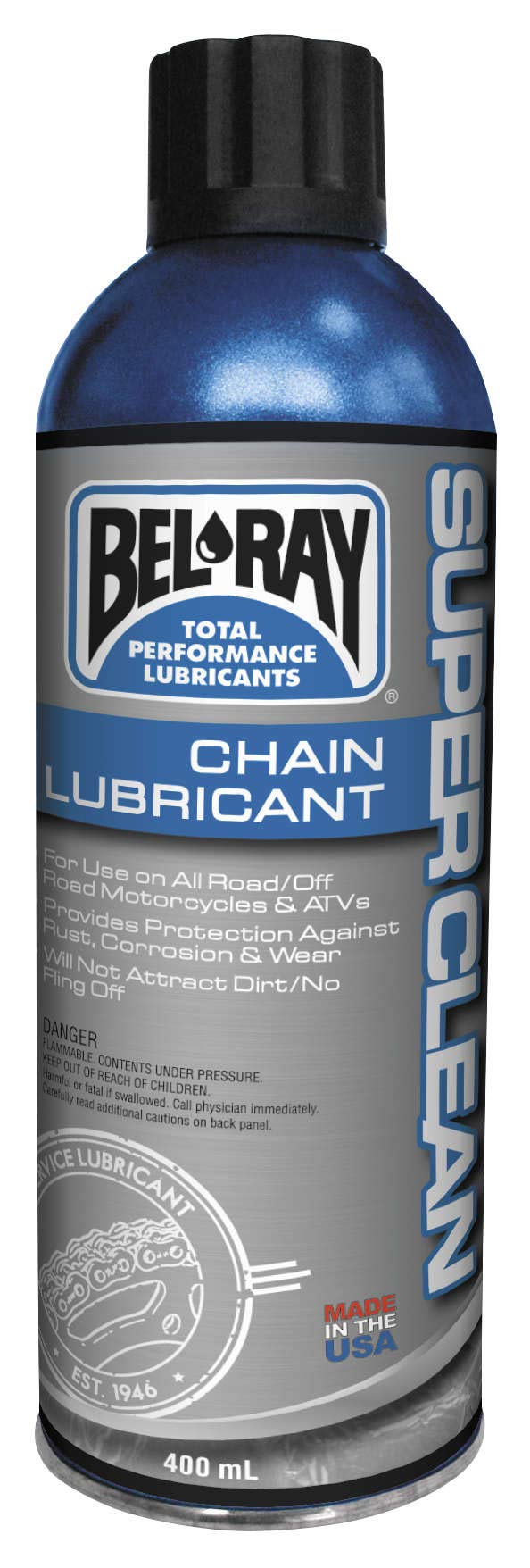 Bel Ray Lubricants 16 Ozsuper Clean Chain Lube 400 Ml 99470-A400w / 92450-A13.5 New