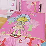 Girls Fifi and the FlowerTots Bedding Duvet Cover and Pillowcase (Twin Bed) (Pink)