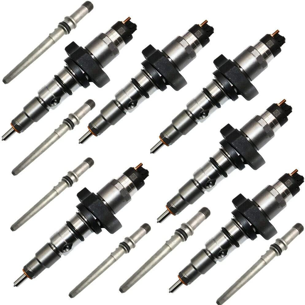 Set Of 6 Diesel Injectors W/Connector Tubes for RAM Cummins 5.9 24v