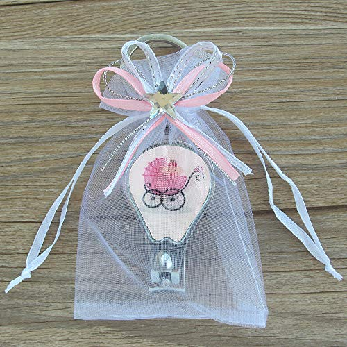 12 Pcs Baby Shower Keychain with Nail Clipper and Opener Party Favor with Decorated -