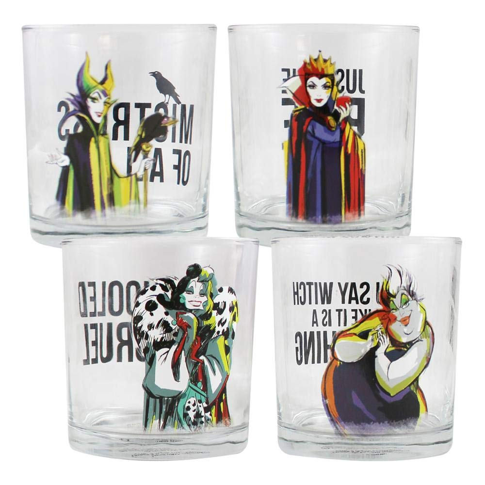 Disney - Villains: Set of Four 10 oz. Glasses