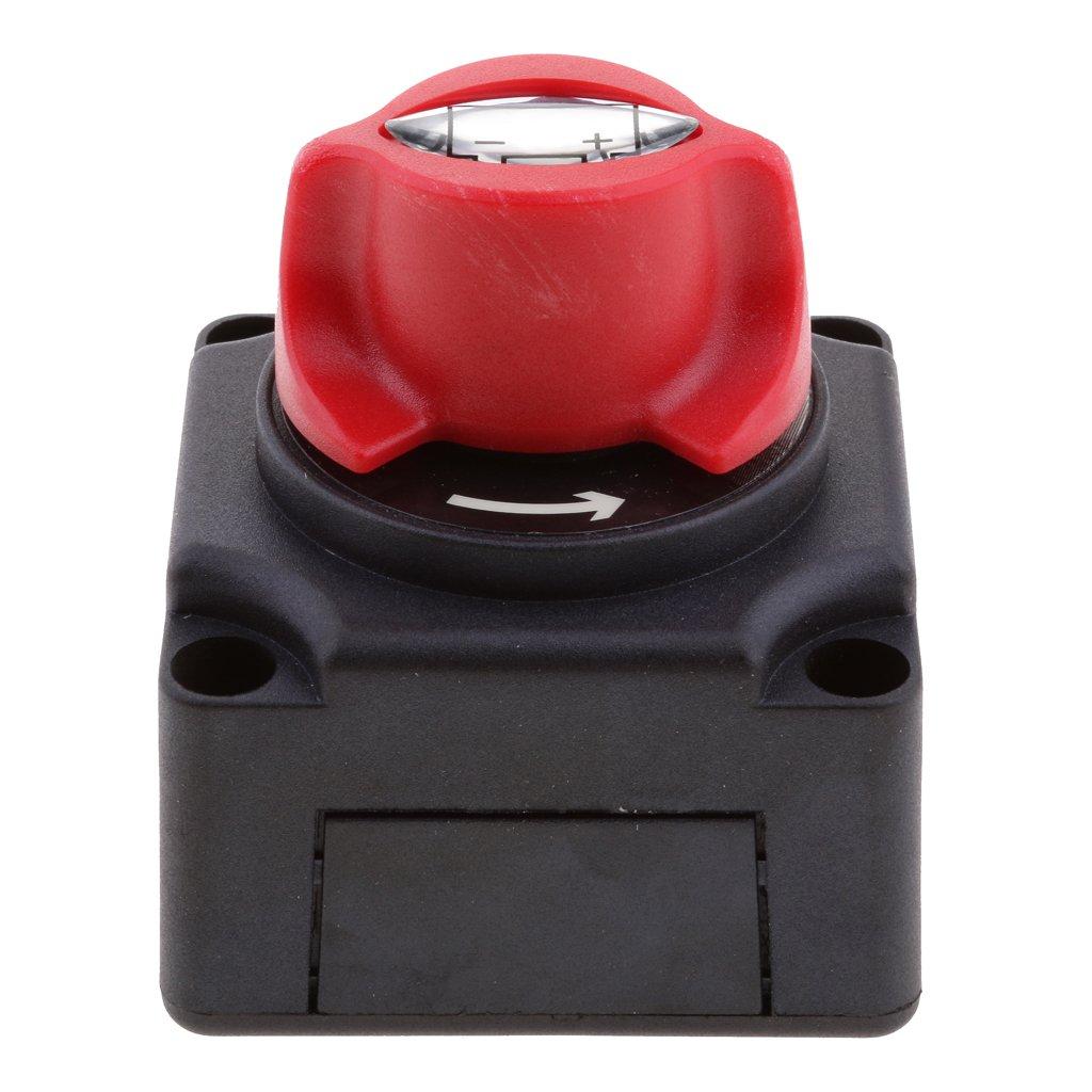 Auto-Mini-Batterie-Wahlschalter Batterie-Trennschalter mit 3 Positionen 75A INT 50A JtronAutobatterieschalter MAX 50V DC 50A CONT
