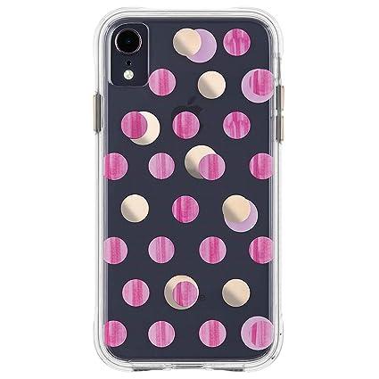 Case Mate Iphone Xr Case Wallpapers Iphone 6 1 Pink Metallic Dot