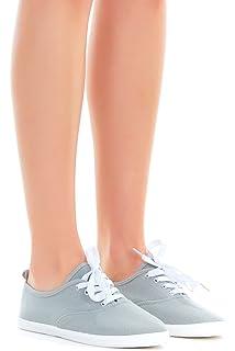 49103411dcc Women Lace up Canvas Shoes