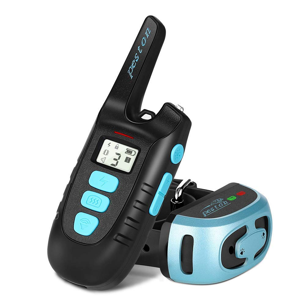 PESTON Dog Training Collar Rechargable 100% Waterproof Electric Vibration Beep Control Dog Shock Collars with Remote Long Range up tp 1500ft for Small Medium Large Dogs