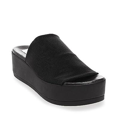 2d6d733141a21 Amazon.com | Steve Madden Women's Slinky Platform Sandal | Slides