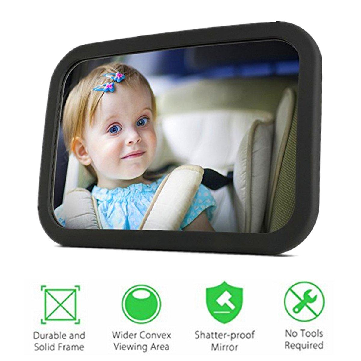 Miroir Auto Bébé PLUIESOLEIl Rétroviseur de Surveillance Bébé pour Siège Arrière Avec Une Rotation 360° Pour Bébé en Sécurité Miroir de Voiture
