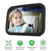 Specchio auto Bambino PLUIESOLEIl Sicuro e Antiurto Specchietto Retrovisore per Seggiolini auto per Bambini Resistenti agli Incidenti Specchietto per Seggiolino Auto