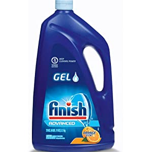 Finish Dishwasher Detergent Gel Liquid, Orange Scent, 75oz