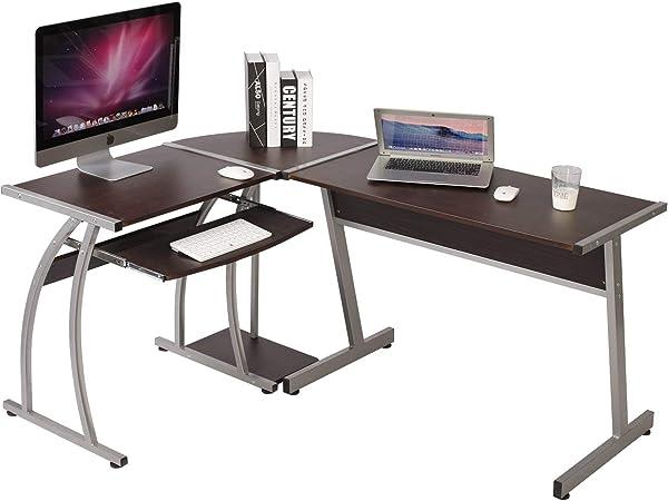 WOLTU TSG23dc - Mesa de Escritorio en Forma de L, en ángulo, para Ordenador, Oficina, Trabajo (Madera