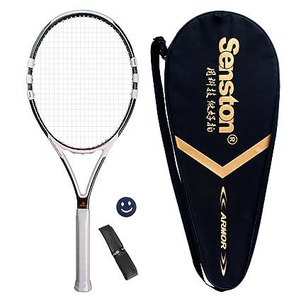 Senston Grafito Raqueta de tenis unisex,Incluido Bolsa de Tenis / 1 grip / 1