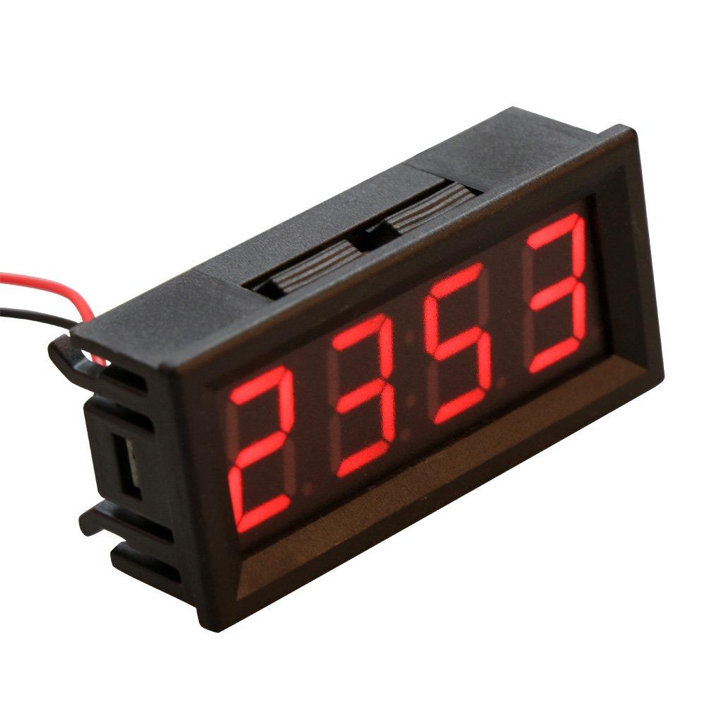 Sunhoyu 0,56 temperatura digitale orologio elettronico temperatura metro LED 12 V 24 V 36 V 48 V auto