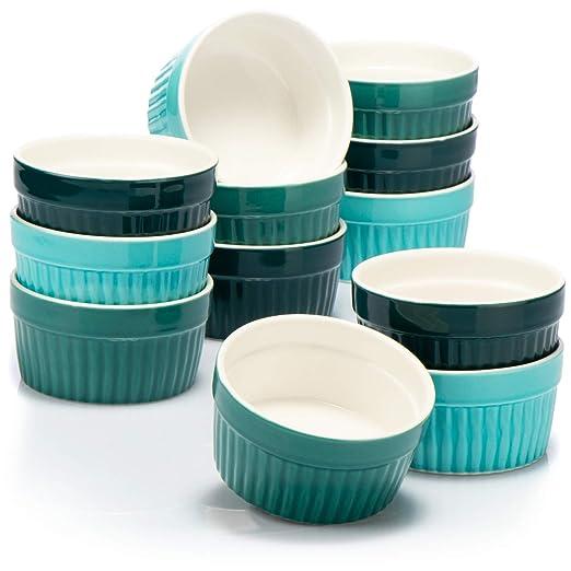 COM-FOUR® 12x moldes para soufflé - cuencos de cerámica creme ...