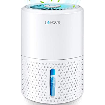 .com - LONOVE Dehumidifier - Upgraded 2200 Cubic Feet (190 Sq ft) Mini Dehumidifiers for Home Bedroom Bathroom Basement Closet RV Garage, 1000ml (34oz) Quiet Auto-Off Electric Portable Small Dehumidifier -