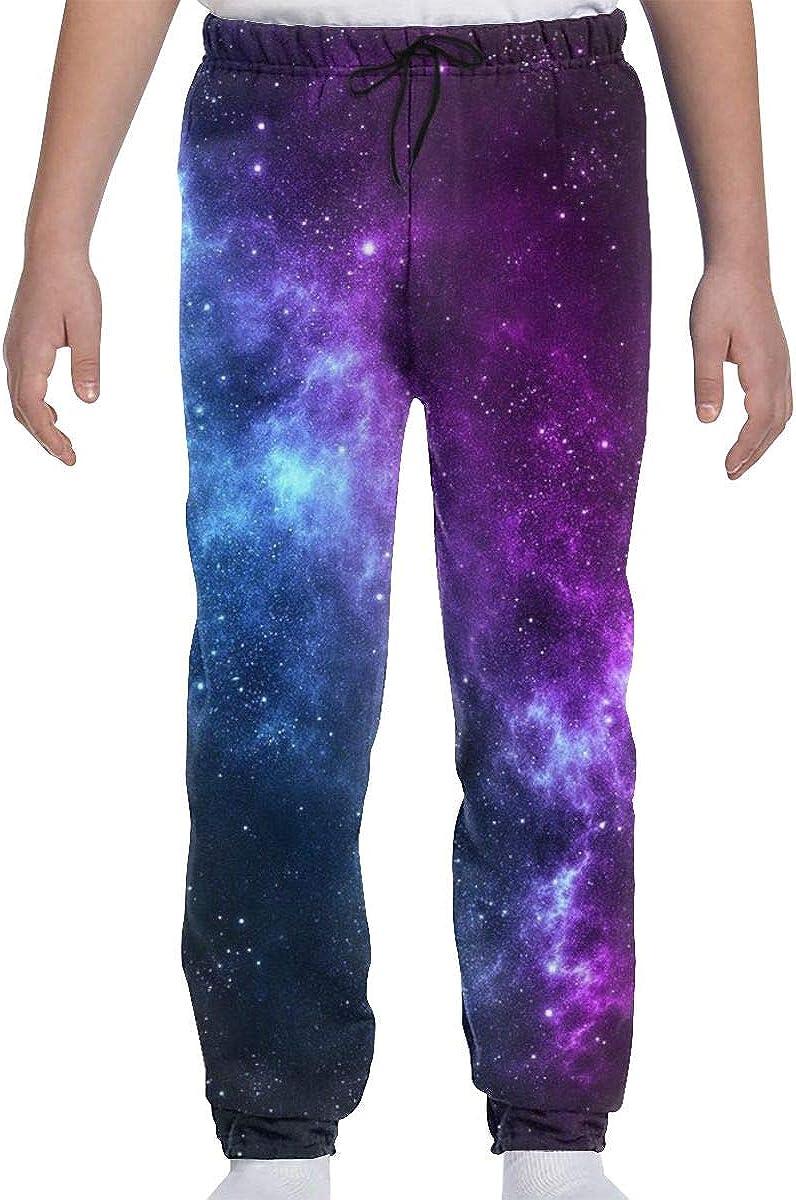Blue Purple Galaxy Boys Girls Sweatpants Soft Cozy 3D Casual Sports Trousers