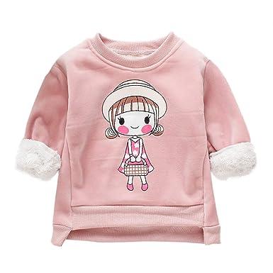 e575e6e15 BOBORA Baby Girls Winter Warm Long Sleeve Cashmeres Sweater Cute ...