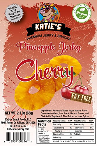 Cherry Pineapple Vegan Jerky (3 Pack) (Dried Fruit) All Natural NO Sulfur Dioxide!