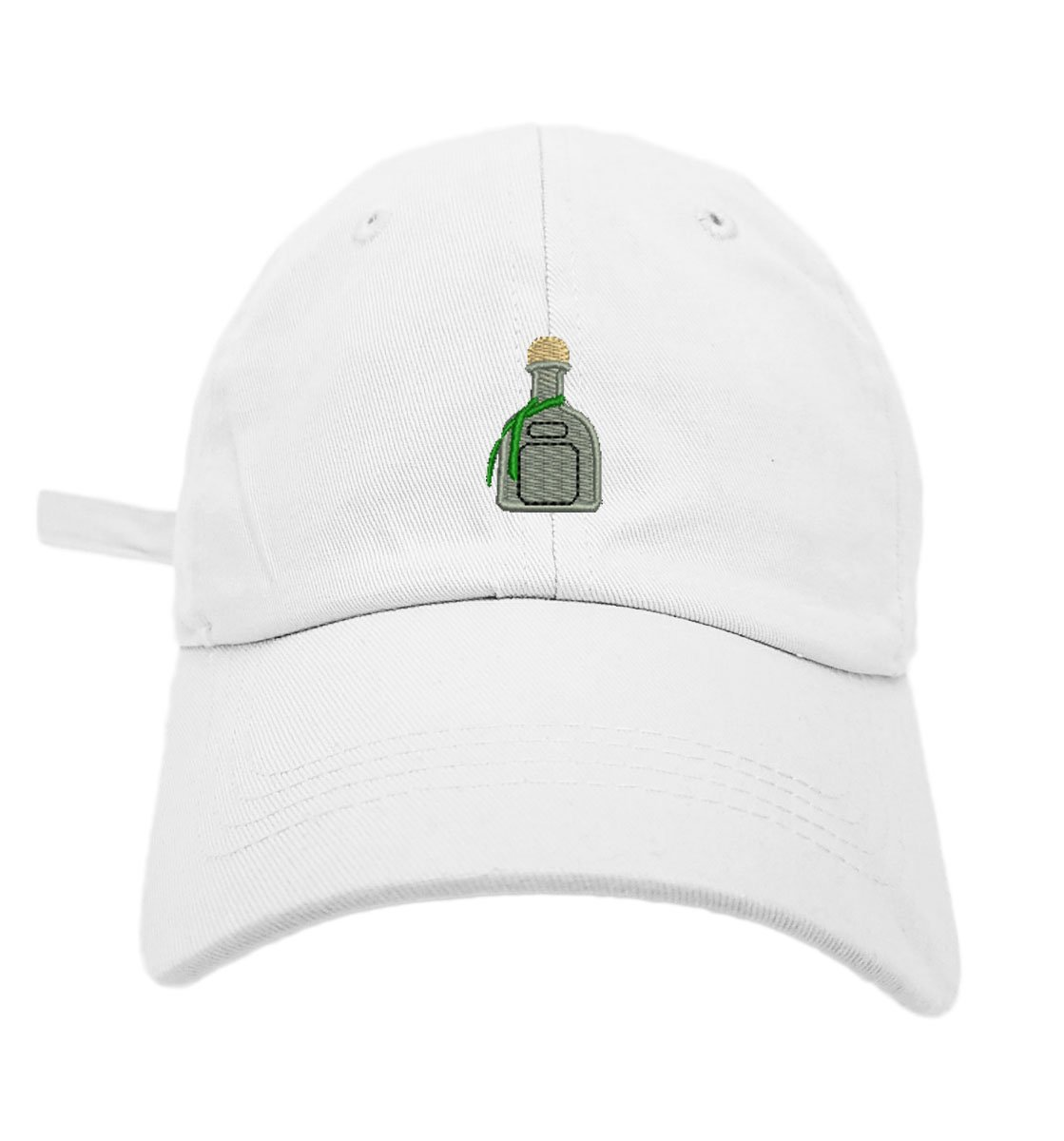 TheMonsta Patron Style Dad Hat Washed Cotton Polo Baseball Cap (White)