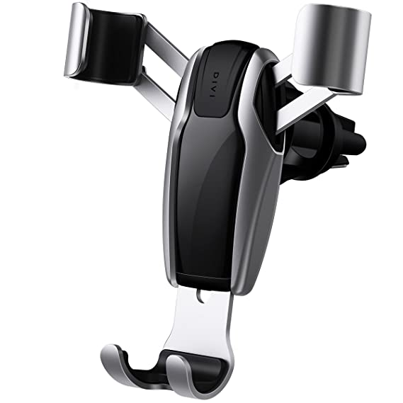 Car Phone Holder, Gravity Universal Air Vent Smartphone Stand Auto-clamping Car Cradle Mount