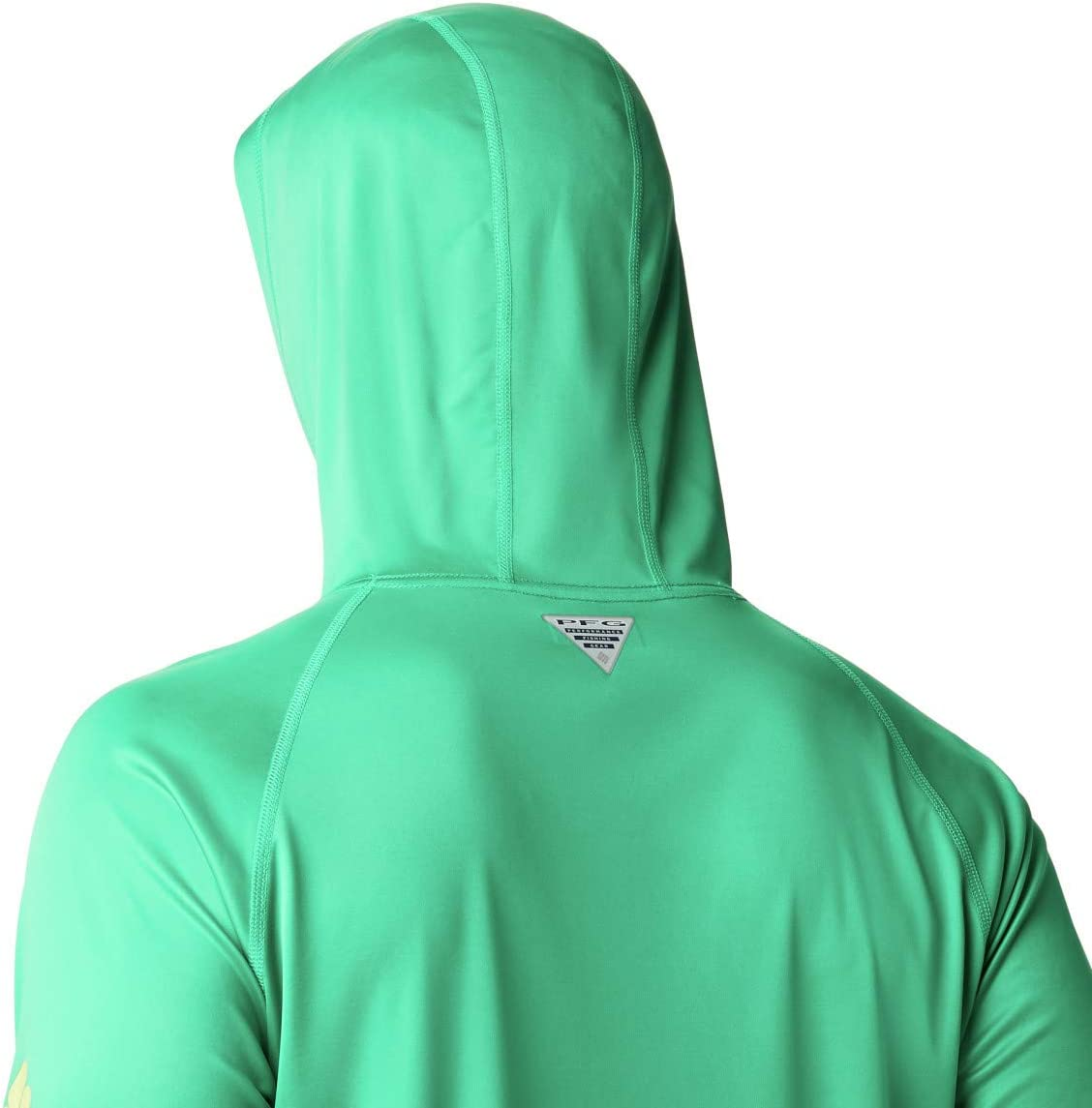 Columbia Men's Terminal Tackle Hoodie Dark Lime/Sunlit Logo