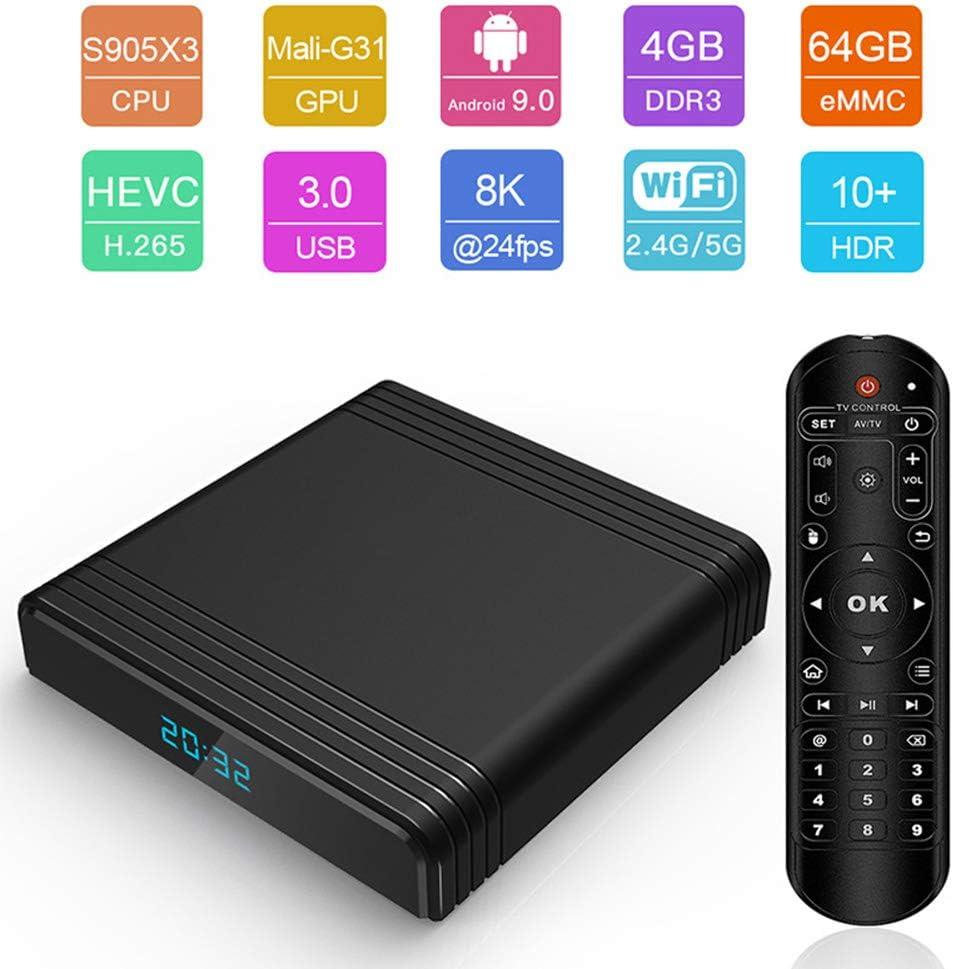 Taurusb Android TV Box Mini Android 9.0 TV Caja 4 GB 64 GB 32 GB ...