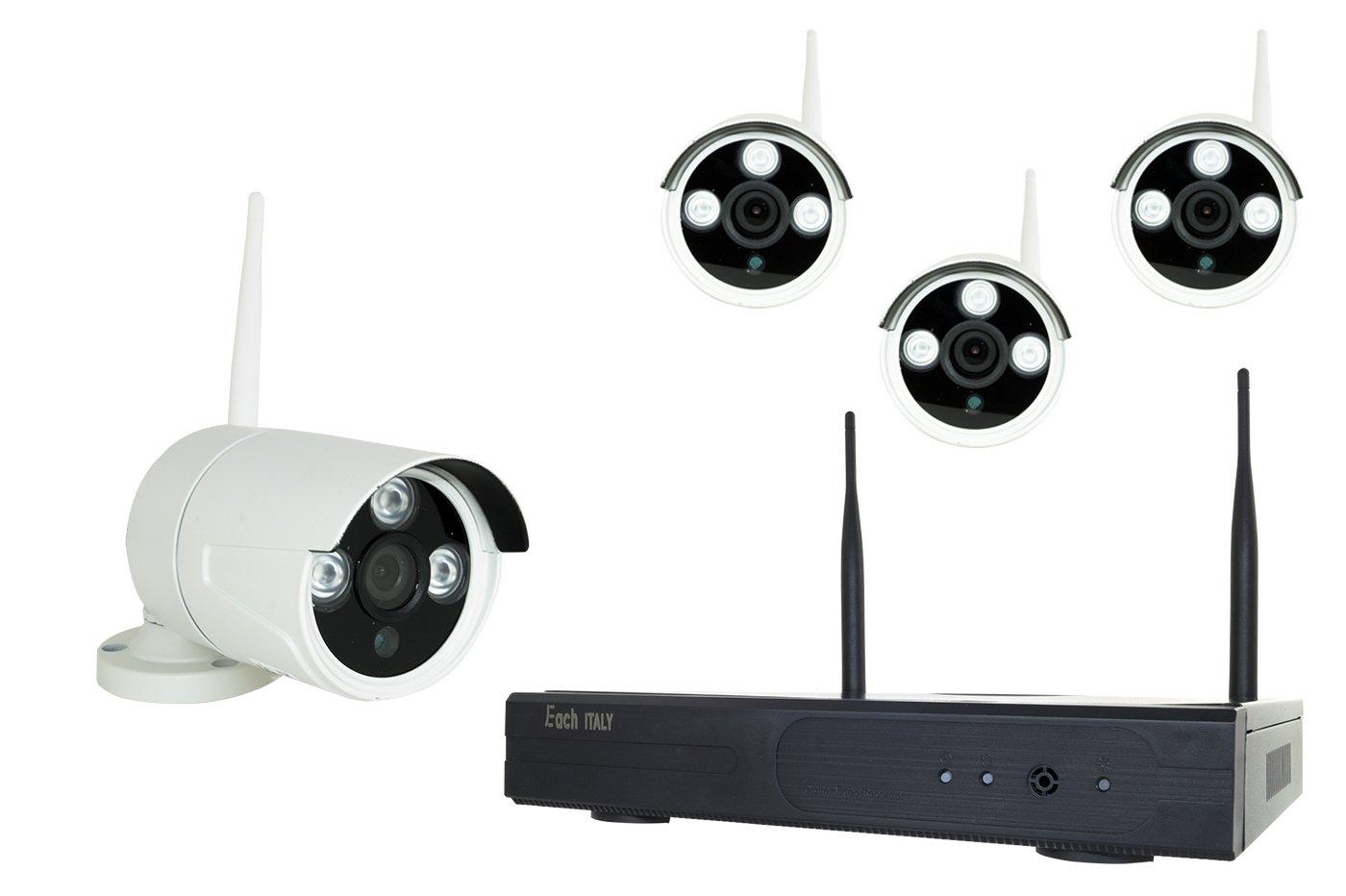 Kit Videoüberwachung NVR 4 Kameras HDMI LAN WLAN VGA 8806zl3 – 4