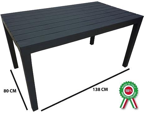 Sumatra - Table d\'appoint rectangulaire en résine, imitation ...