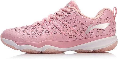LI-NING Nebula AYTN058 - Zapatillas de bádminton para Mujer, Transpirables, Antideslizantes, Color Rosa, Rosa (Rosado), 37 EU: Amazon.es: Zapatos y complementos