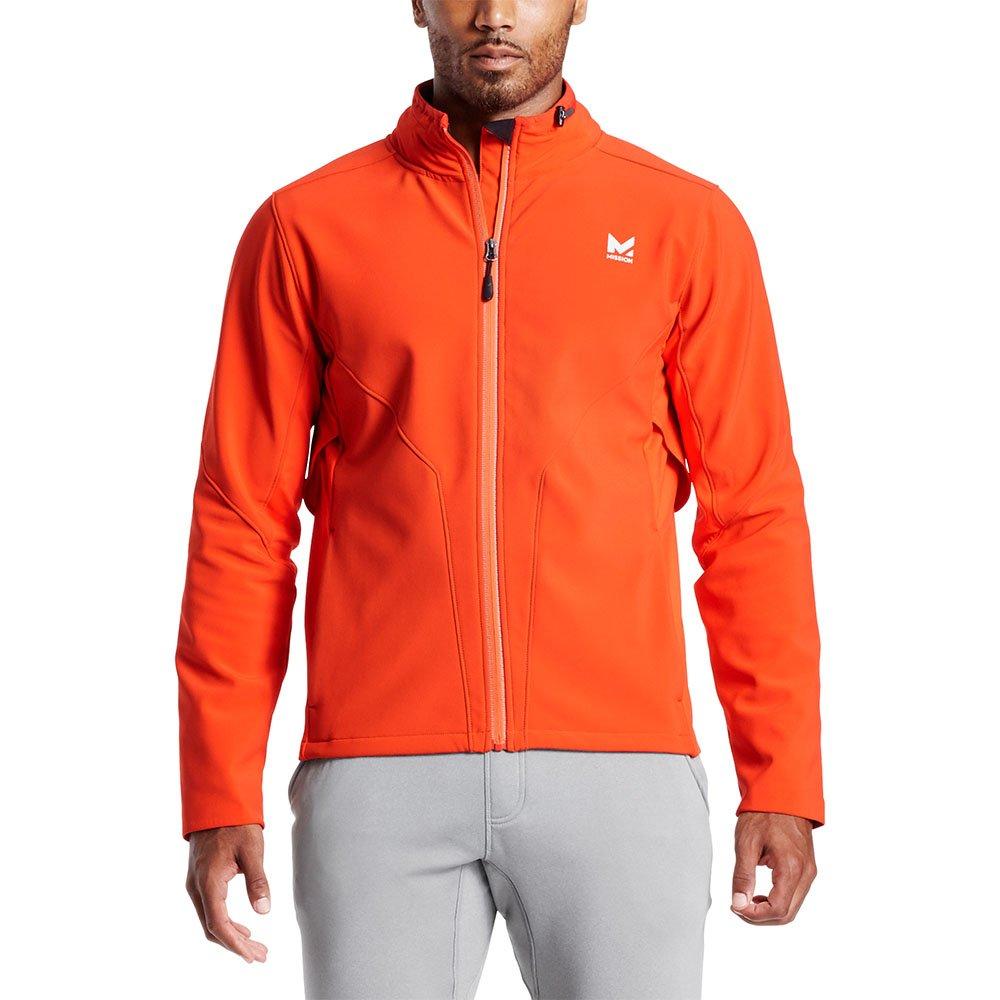 Mission Men's VaporActive Catalyst Jacket, Cherry Tomato/Quiet Shade, X-Large