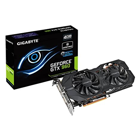 Gigabyte GV-N960WF2OC-4GD GeForce GTX 960 4GB GDDR5 - Tarjeta gráfica (GeForce GTX 960, 4 GB, GDDR5, 128 bit, 4096 x 2160 Pixeles, PCI Express 3.0)