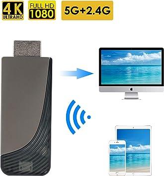 Dongle inalámbrico de pantalla Wifi 2.4G + 5G Adaptador Wifi 4K HD ...