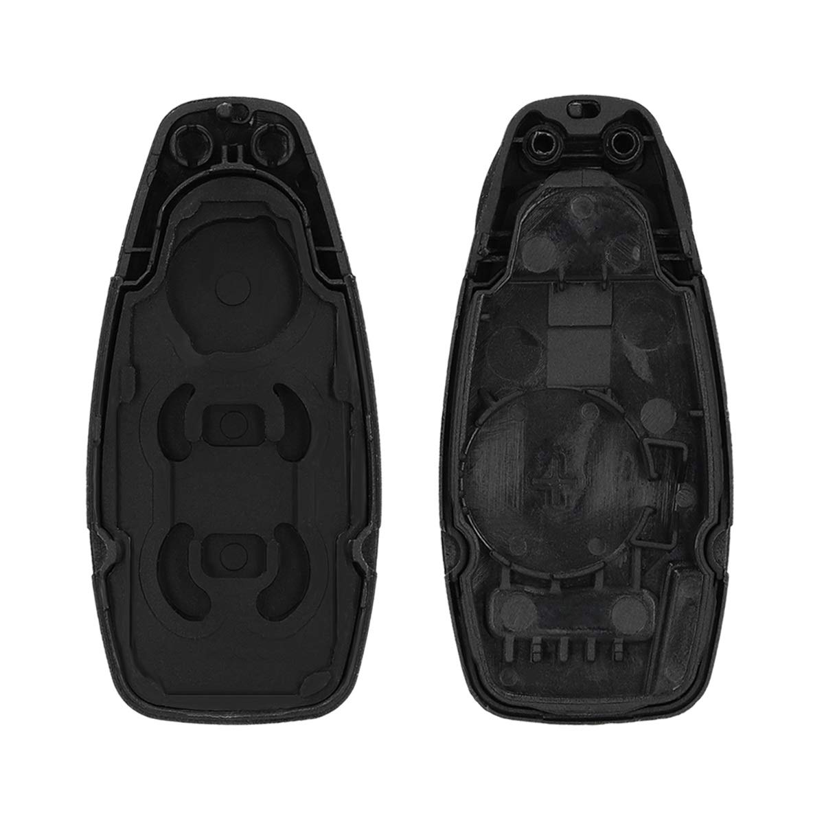 kwmobile Car Key Case for Ford Black Protective Plastic Key Fob Shell Replacement for Ford 3 Button Car Key Keyless Go