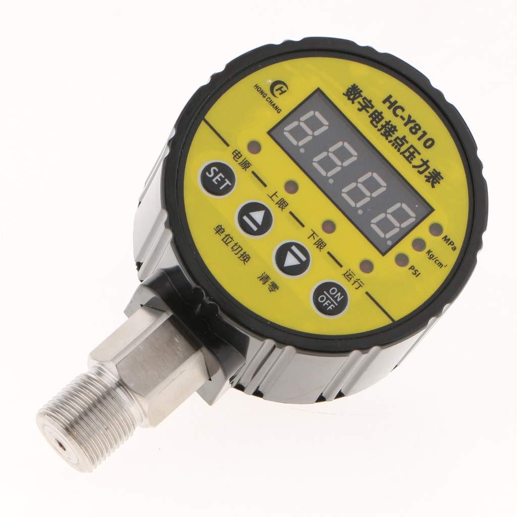 2 220V Digitales Elektrisches Kontaktdruckmessger/ät HCY810 Zur Steuerung Der Wasserpumpe