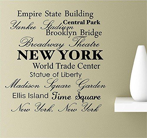 wall art stickers new york - 1
