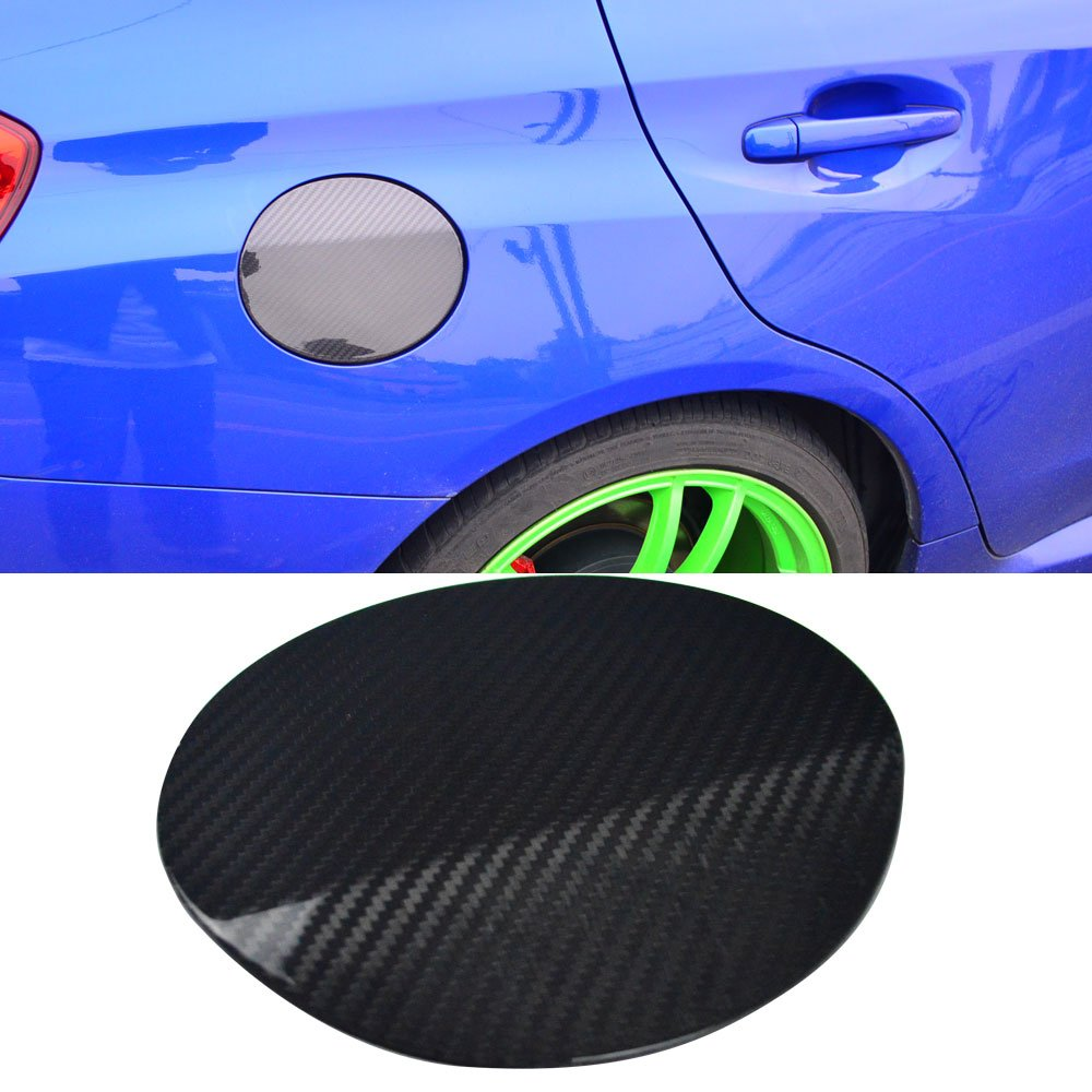 Fuel Tank Cap Cover Fits 2015-2018 Subaru WRX STI | OE Style Carbon Fiber Fuel Tank Cap Cover Trim Other Color Available By IKON MOTORSPORTS | 2016 2017