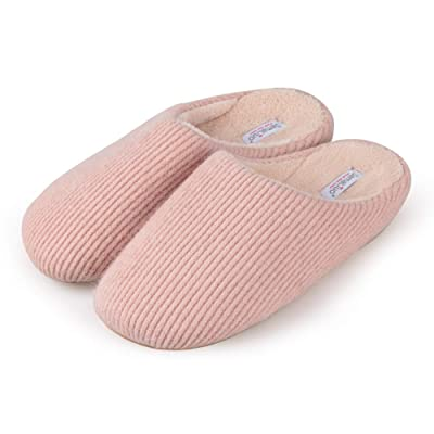 WINSHARE Fuzzy House Slippers for Women - Womens Fluffy Bedroom Slippers with Breathable Wool-Like Upper, Non-Slip Rubber Sole | Slippers