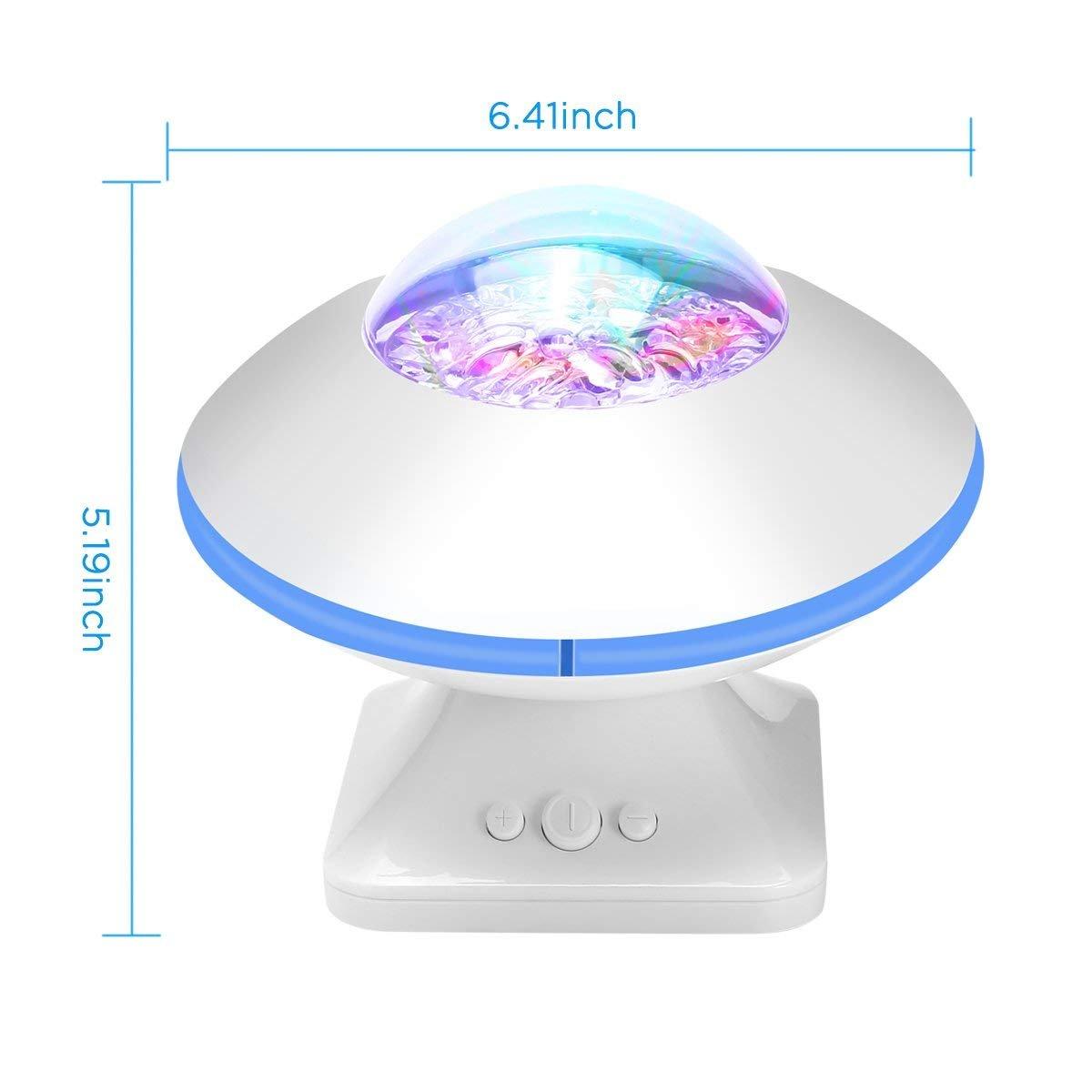 Ceshumd Telecommande Lampe Projecteur Led Simulation Des Vagues