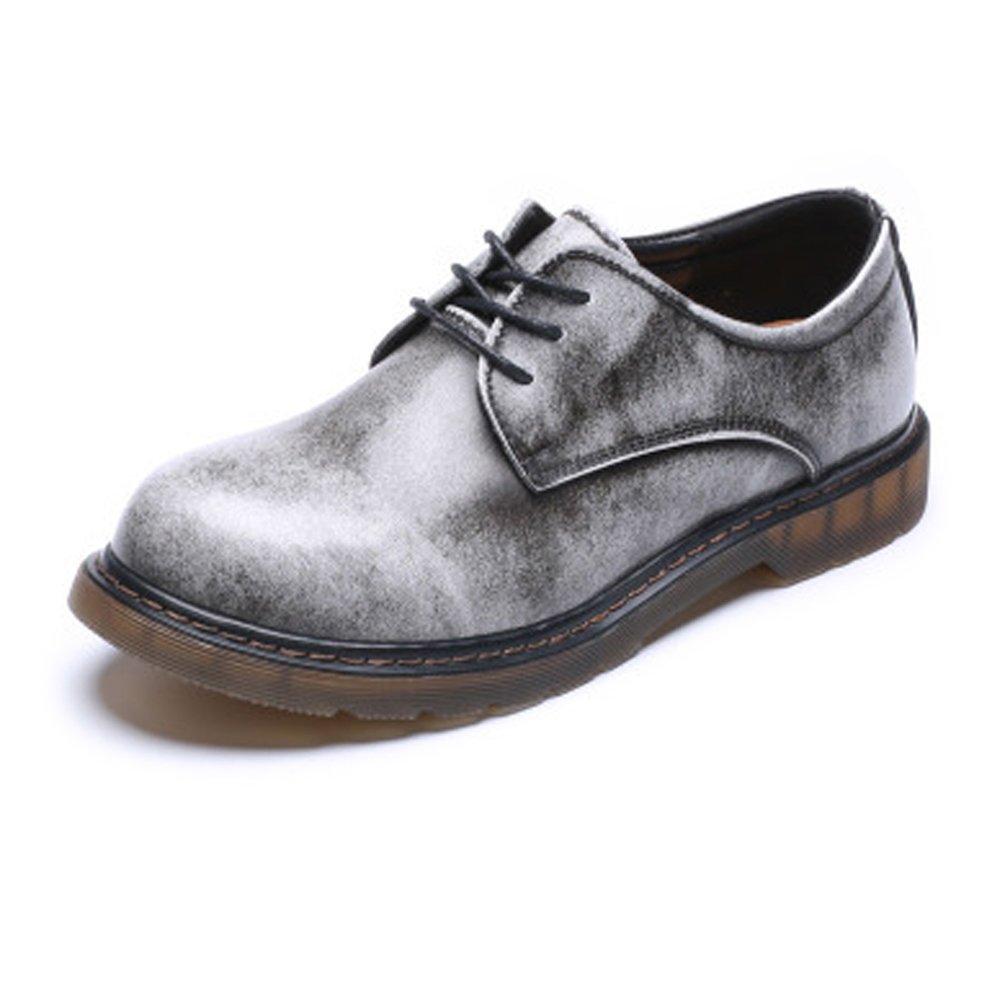 HILOTU Oxford Lederschuhe,Herren Classic Leather Lace up Mode Kleid Schuhe Chukka-Stiefeletten mit Knöchel Gummisohle