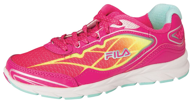 low-cost Fila Women's Finado Pink Glo/Safety Yellow/Aruba Blue Sneaker