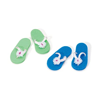 618a6a4599a6b0 Amazon.com  Bulk Buy  Darice DIY Crafts Timeless Miniatures Flip Flops 1  inch 2 pieces (3-Pack) 2318-10  Toys   Games