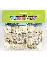 Unique Party - 86932 - Paquet de 144 Pièces de Trésor en Plastique Doré pour Pochettes - Cadeau