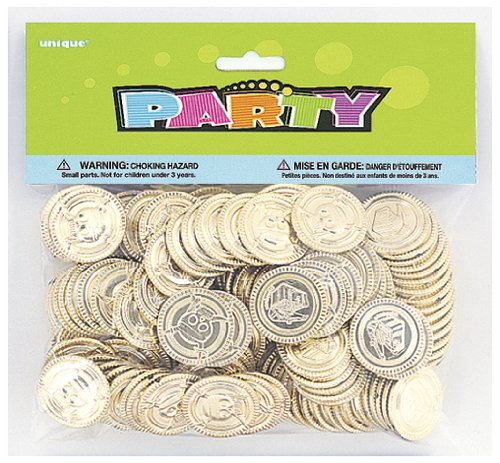Gold Pirate Coins 144ct - Pirate Themed Party Supplies