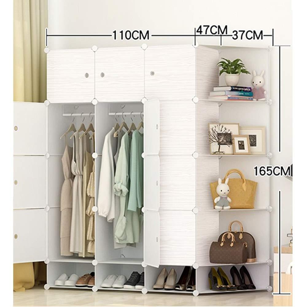 LELEWardrobe Kleiderschrank DIY Tragbaren Kleiderschrank Multifunktionsspeicher Kleiderschrank Schlafzimmer Arbeitszimmer Kleiderschrank (Color : Natural, Size : 5B)