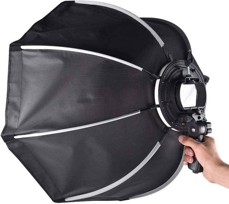 Serounder KS55 Portable Photography Lighting Soft Box Diffuser,Professional Folding Flash Speedlite Softbox with Storage Bag for Camera Flash Light Speed Lights