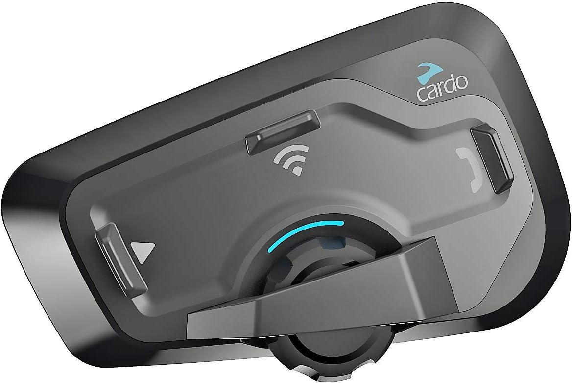Cardo FRC4P101 Plus-Sistema de comunicación Bluetooth de Motocicleta de 4 vías con operación de Voz Natural, Sonido de jbl (Paquete, Negro, Freecom 4 Doble, Set de 2