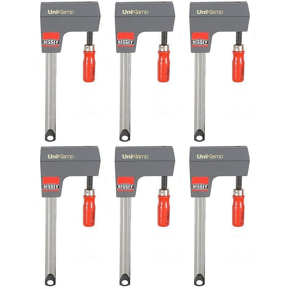 Bessey UK3.006 6-Inch UniKlamp - Pack of 6 Clamps by Bessey