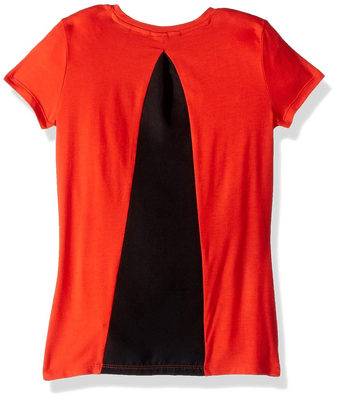 GUESS Girls Big Short Sleeve Graphic Hi-lo T-Shirt