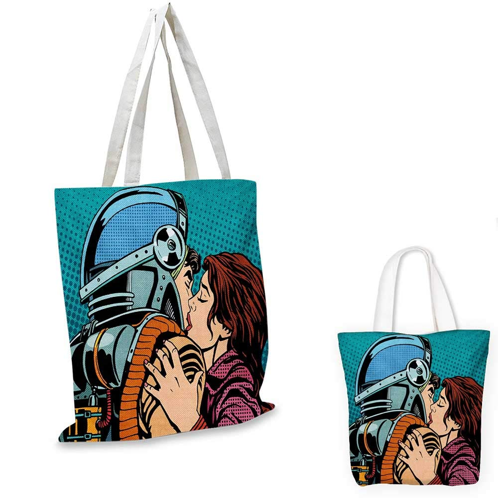 Love You canvas messenger bag When You Love Too Much Stylized Nature Element Comet Happy Valentines Mood canvas beach bag Dark Blue White 16x18-13