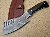 Knife King Premium Custom Damascus Handmade Hunting Chopper Knife. Comes with a Sheath.